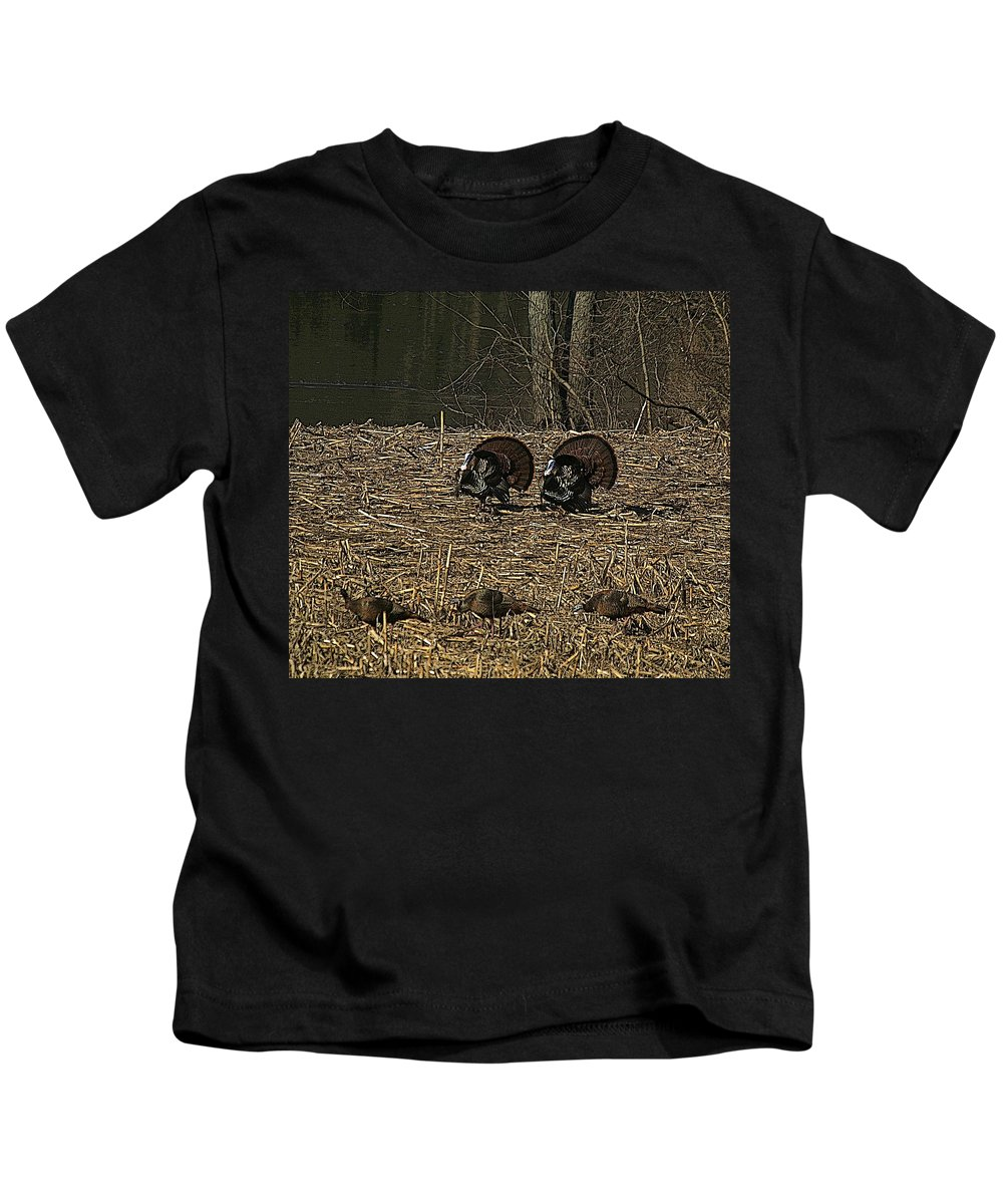 Turkey Kids T-Shirt featuring the photograph Strutin For The Ladies by Robert Pearson