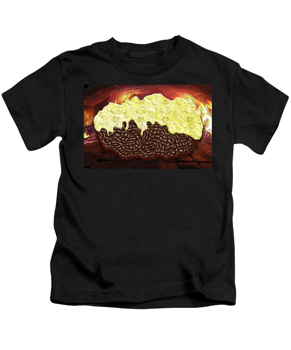 Potato Kids T-Shirt featuring the digital art Stuffed Potato by Mark Sellers