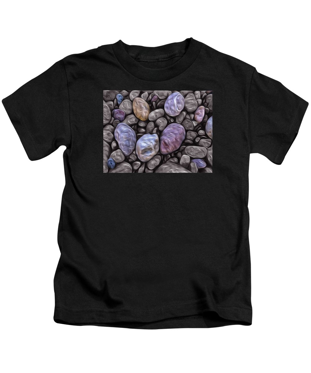Beach Kids T-Shirt featuring the photograph Stylized Beach Stones On Lake Superior by Jeff Rennicke