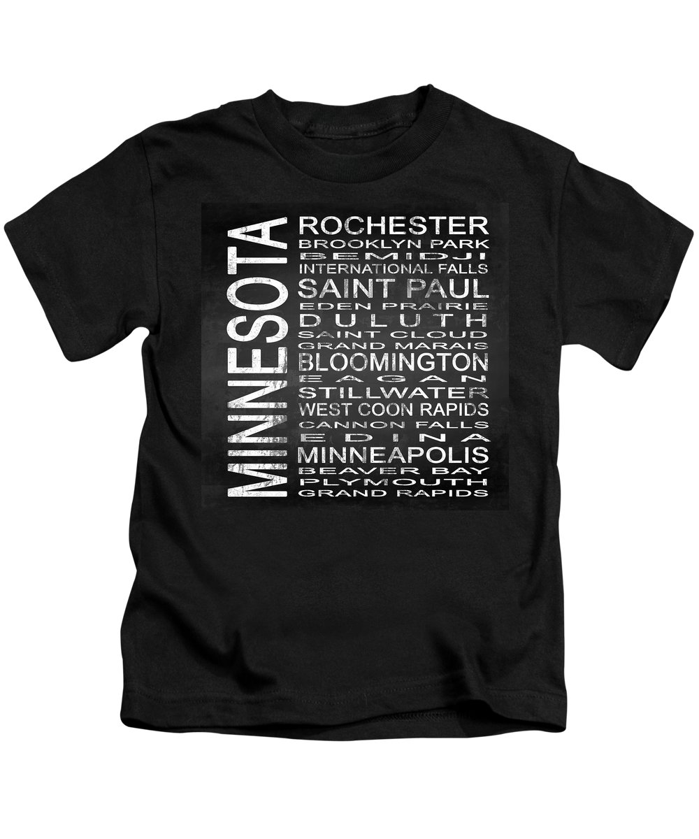 Subway Sign Kids T-Shirt featuring the digital art Subway Minnesota State Square by Melissa Smith