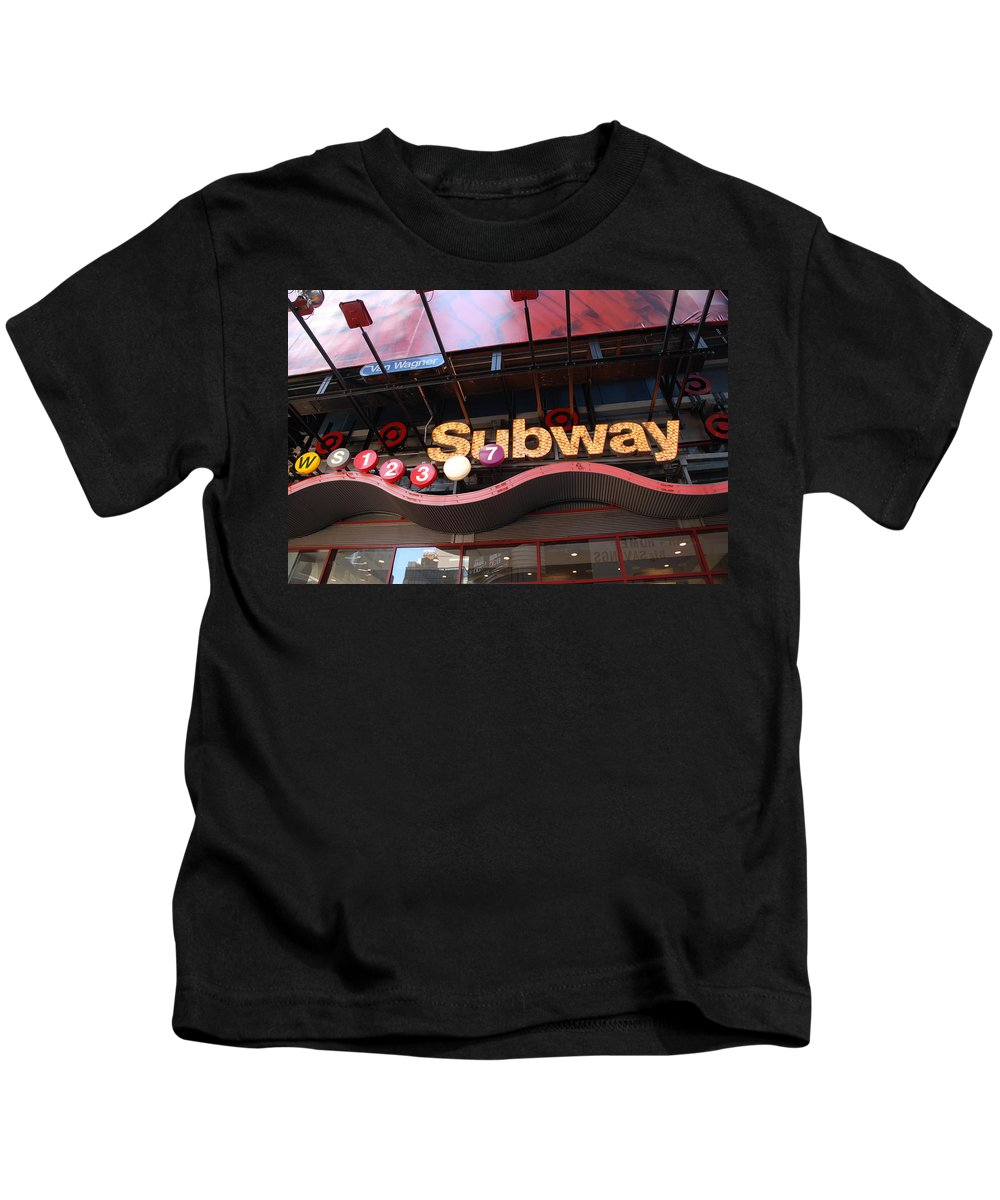 Neon Kids T-Shirt featuring the photograph Subway by Rob Hans