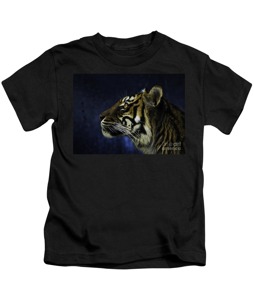 Sumatran Tiger Kids T-Shirt featuring the photograph Sumatran Tiger Profile by Sheila Smart Fine Art Photography