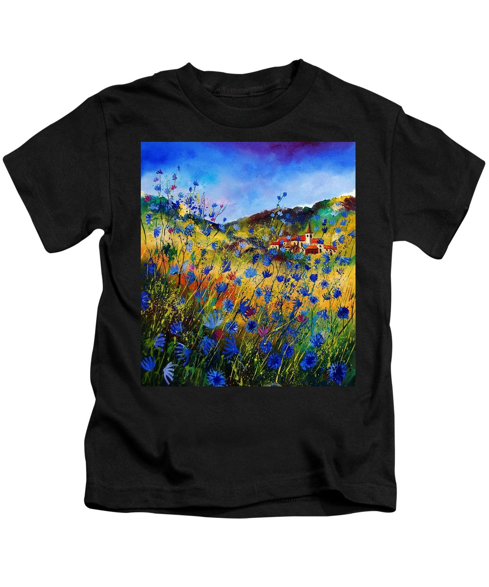 Flowers Kids T-Shirt featuring the painting Summer Glory by Pol Ledent