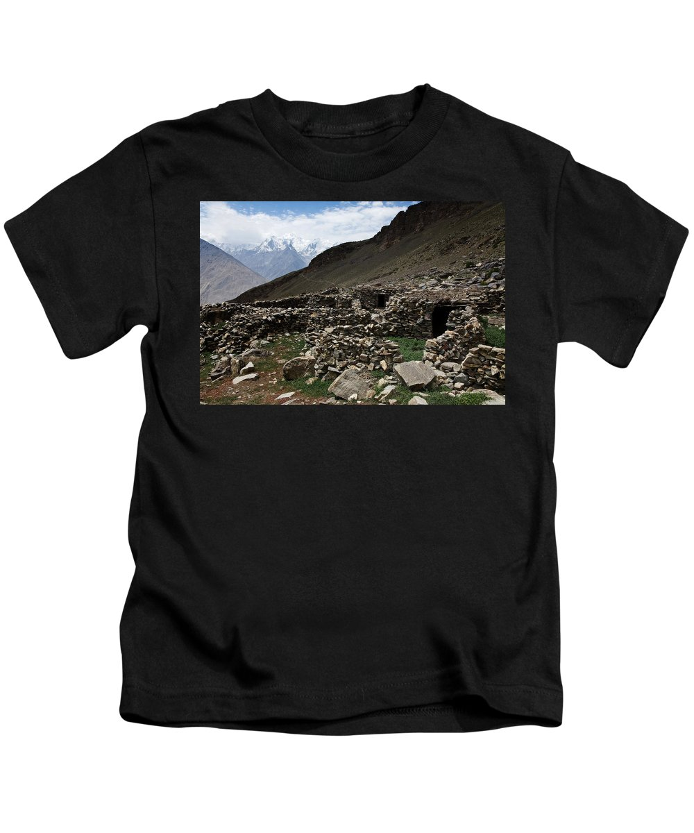 Backpacking Kids T-Shirt featuring the photograph Summer Hut by Konstantin Dikovsky