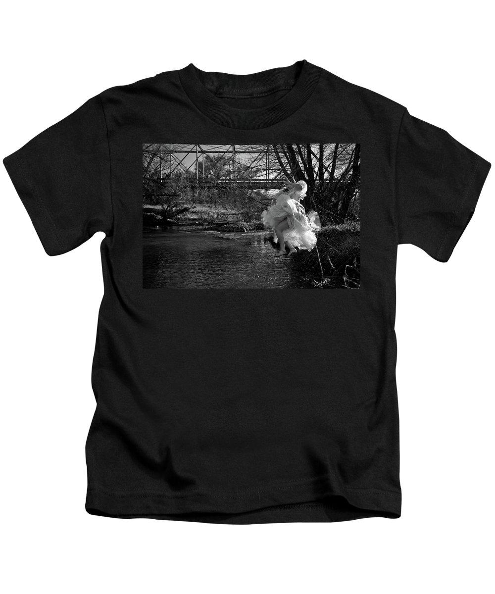 Summer Play Kids T-Shirt featuring the photograph Summer Leap by Scott Sawyer