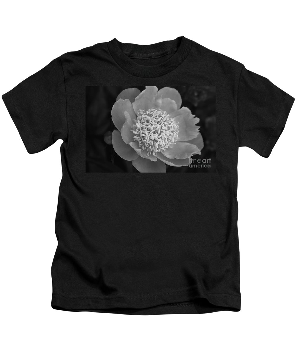 Peony Kids T-Shirt featuring the photograph Summer Peony by Kathy McClure