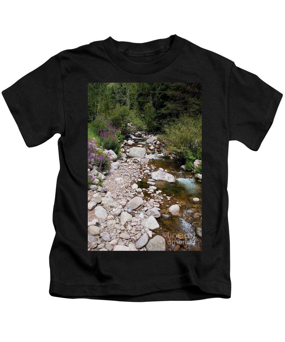Stream Kids T-Shirt featuring the photograph Summertime by Madeline Ellis