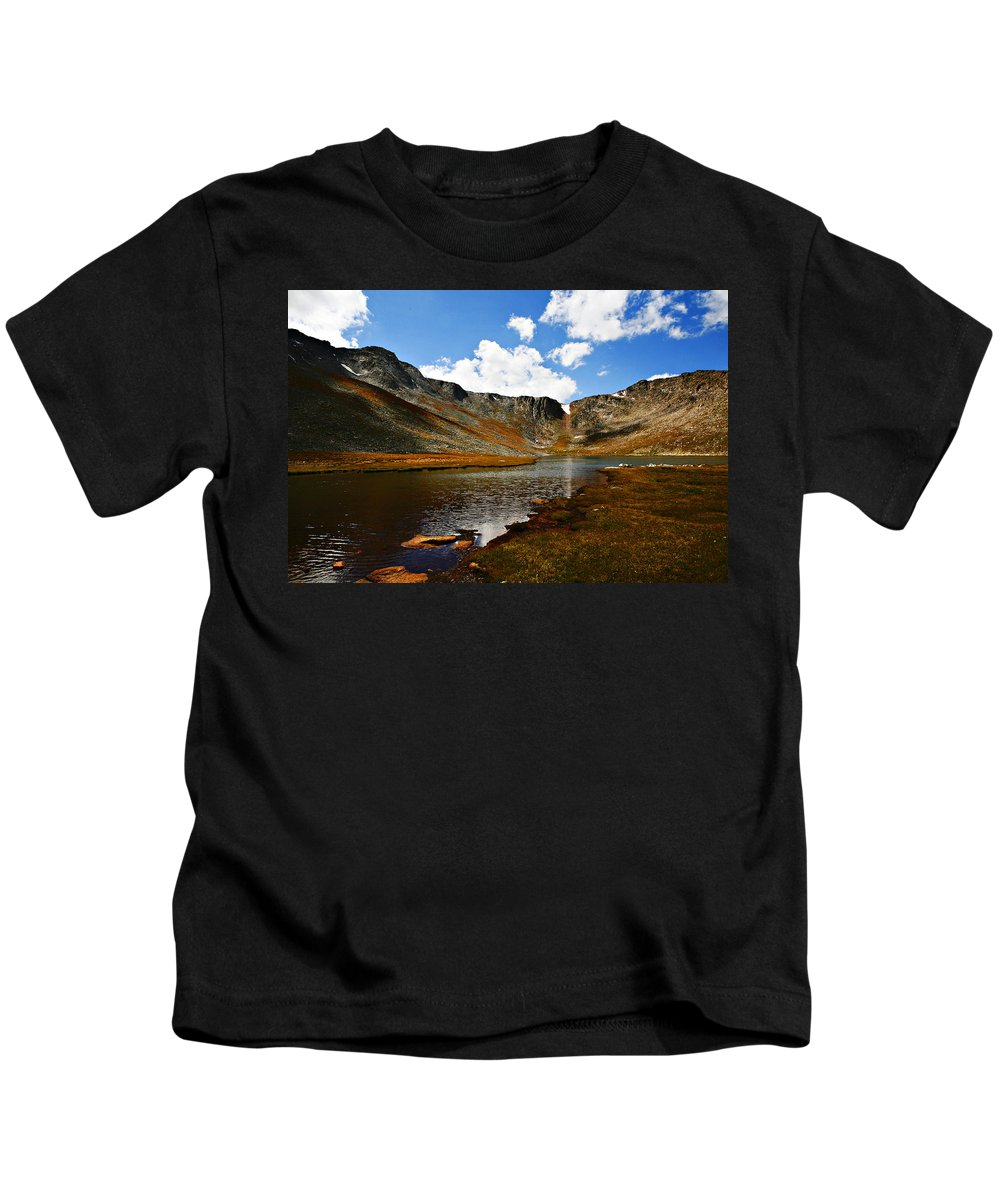 Travel Kids T-Shirt featuring the photograph Summit Lake Colorado by Marilyn Hunt