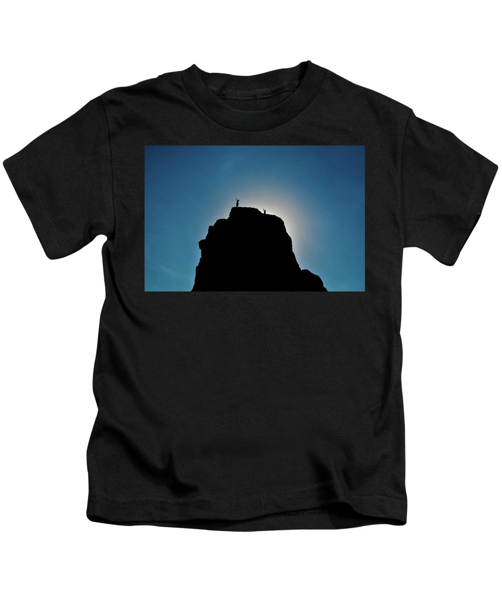 Summit Kids T-Shirt featuring the photograph Summit by Norman Coleman III