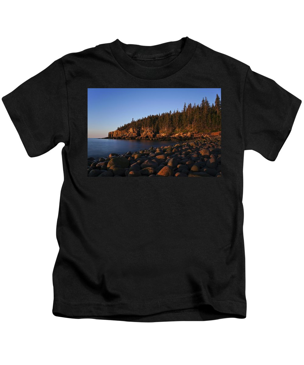 Acadia Kids T-Shirt featuring the photograph Sun Kissed Acadia by Brian Kamprath