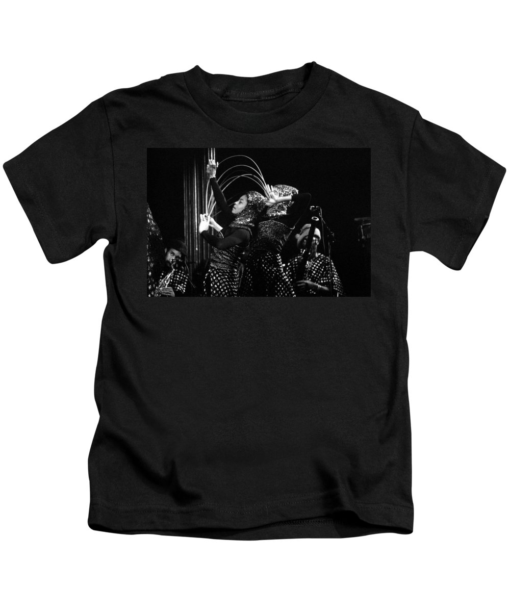 Sun Ra Kids T-Shirt featuring the photograph Sun Ra Arkestra And Dancers by Lee Santa
