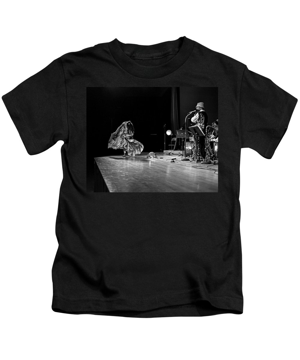 Jazz Kids T-Shirt featuring the photograph Sun Ra Arkestra At Freeborn Hall by Lee Santa