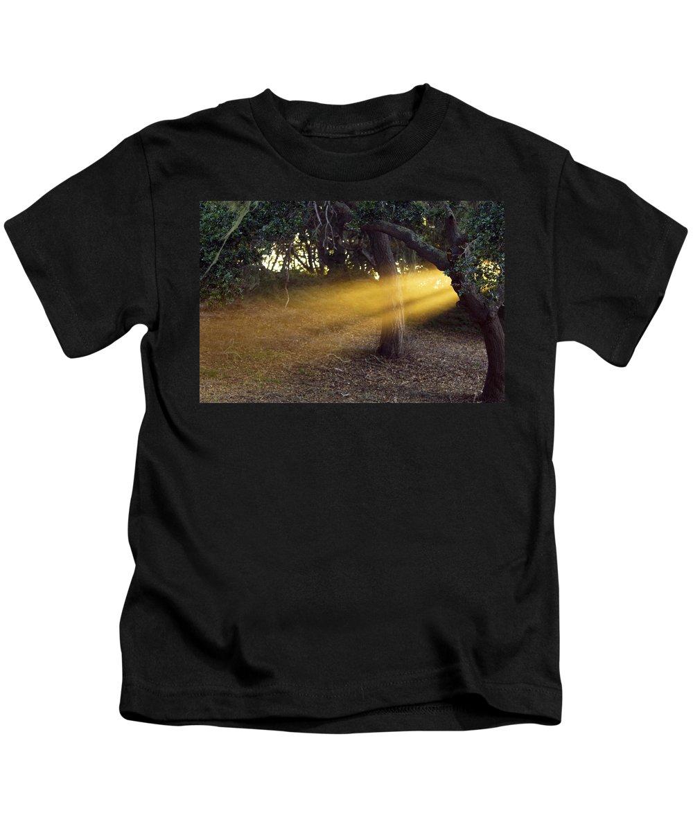Landscape Kids T-Shirt featuring the photograph Sun Rays 2 by Jill Reger