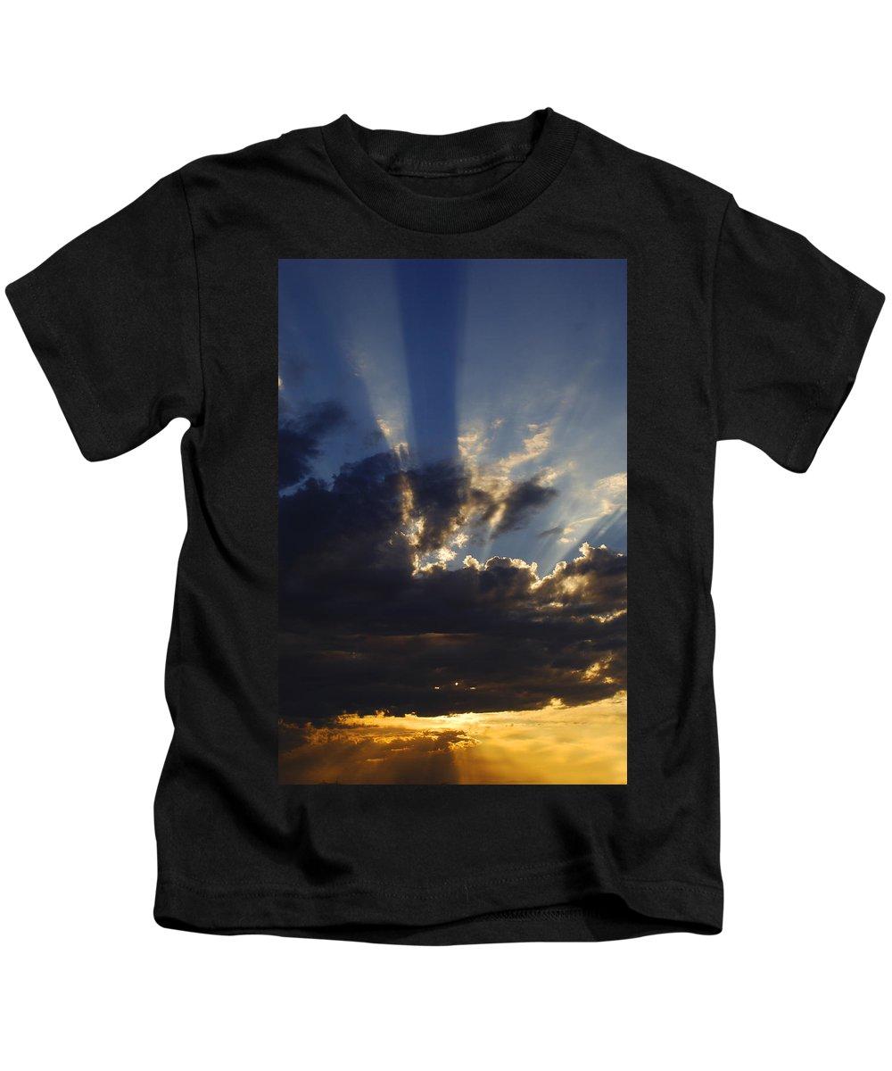 Sunset Kids T-Shirt featuring the photograph Sun Rays by Jill Reger