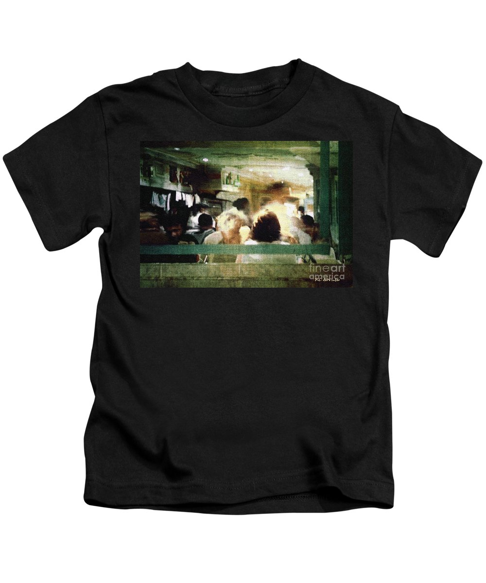People Kids T-Shirt featuring the painting Sunday Dinner Gotham by RC DeWinter