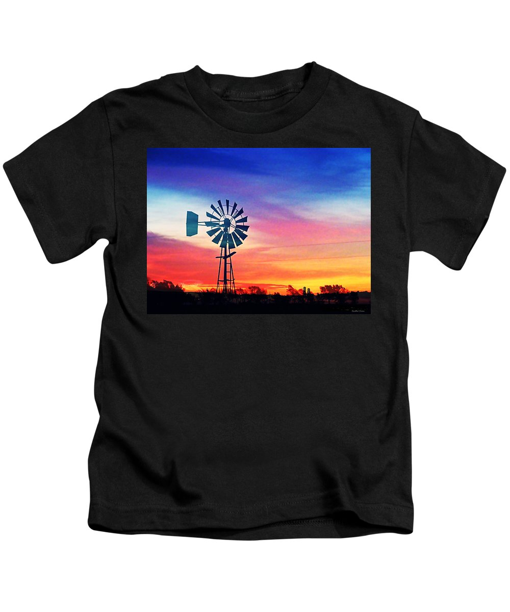 Sunset Kids T-Shirt featuring the photograph Sundown Memory by Concolleen's Visions Smith