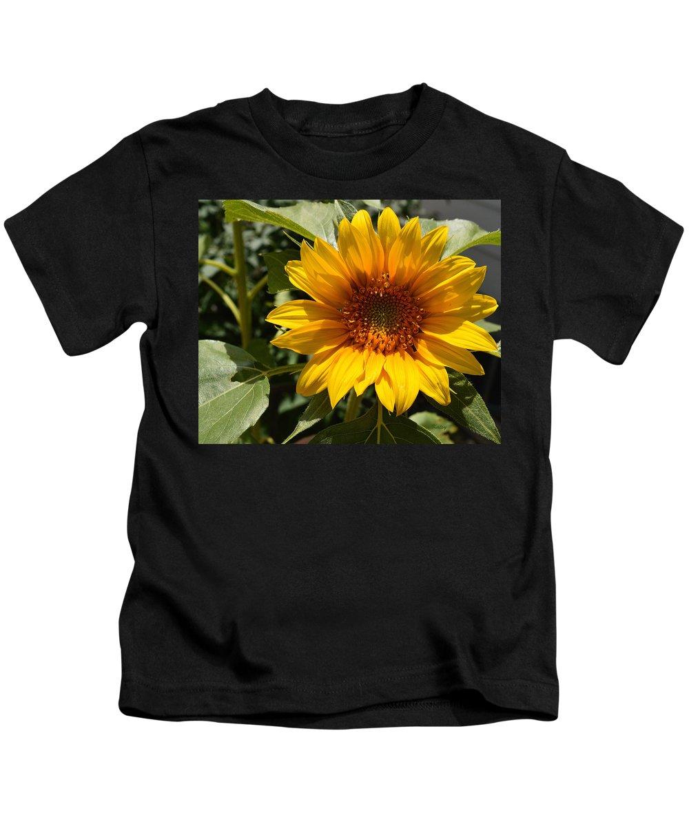 Sunflower Kids T-Shirt featuring the painting Sunflower Art- Summer Sun- Sunflowers by Kathy Symonds