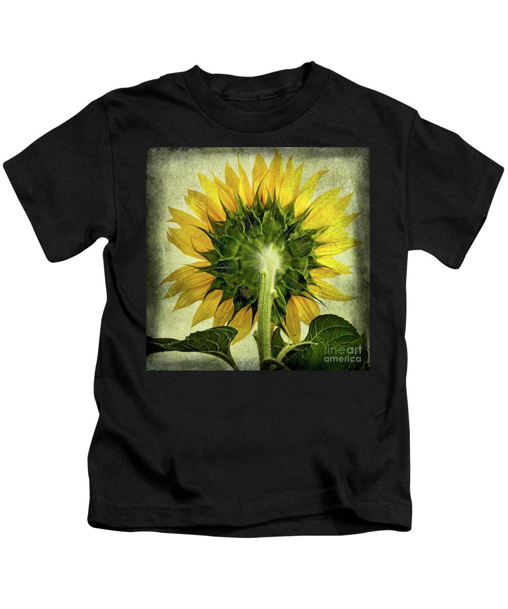 Back Kids T-Shirt featuring the photograph Sunflower by Bernard Jaubert