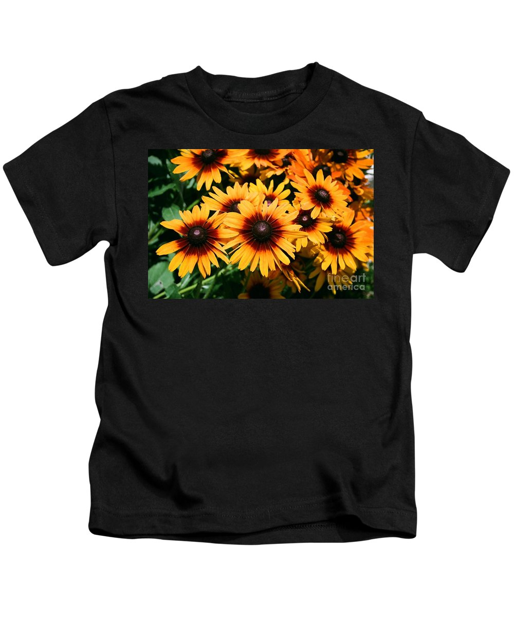 Sunflowers Kids T-Shirt featuring the photograph Sunflowers by Dean Triolo