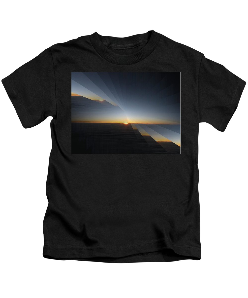 Sunrise Kids T-Shirt featuring the photograph Sunrise At 30k 4 by Tim Allen