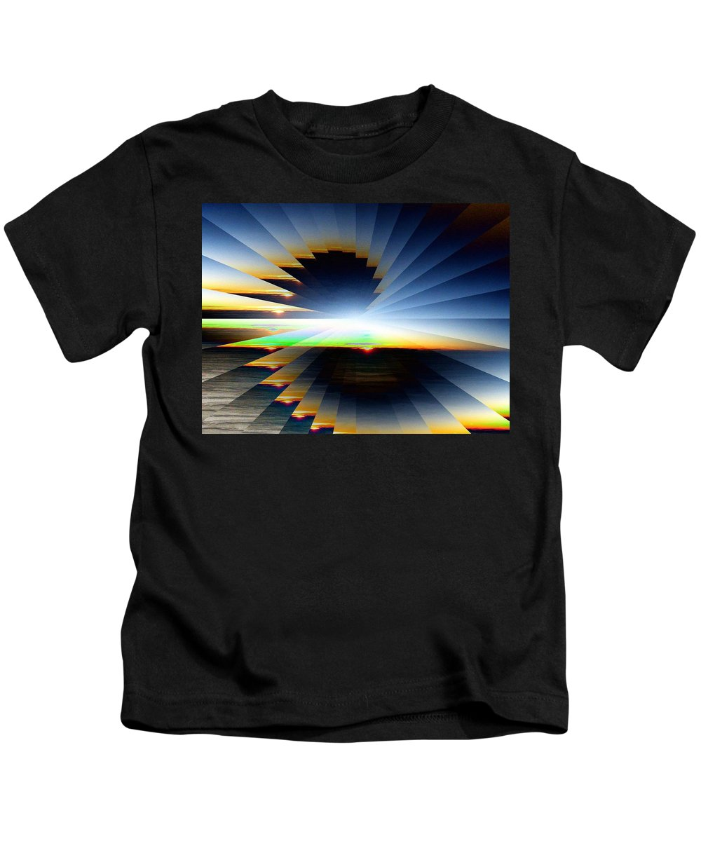 Sunrise Kids T-Shirt featuring the photograph Sunrise At 30k 6 by Tim Allen