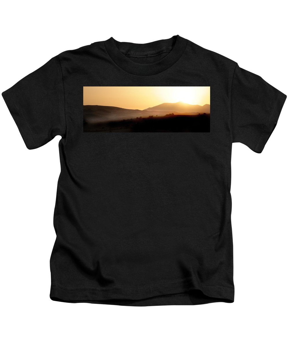 Landscape Kids T-Shirt featuring the photograph Sunrise At Pastelero Near Villanueva De La Concepcion Malaga Region Spain by Mal Bray