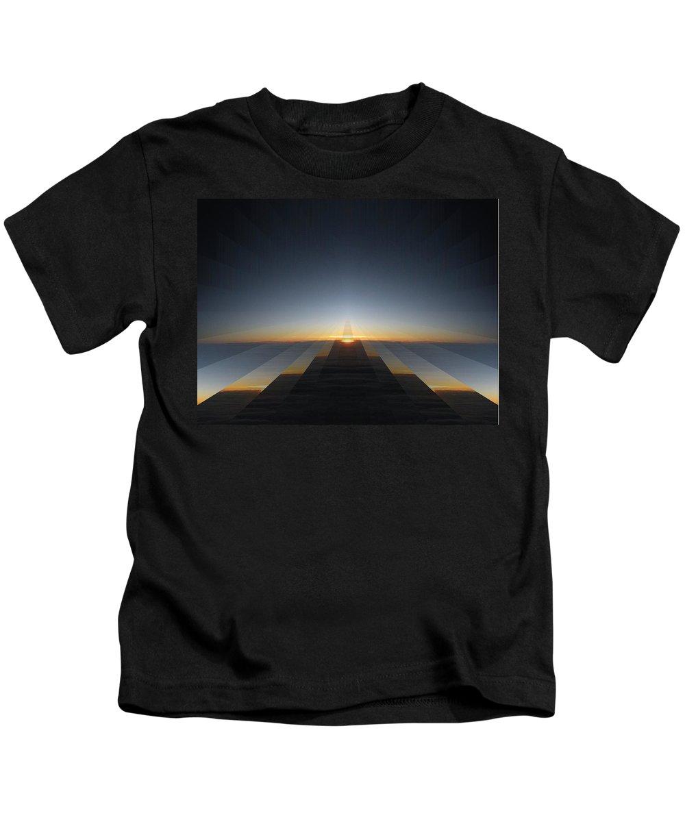 Sunrise Kids T-Shirt featuring the digital art Sunrise From 30k 3 by Tim Allen