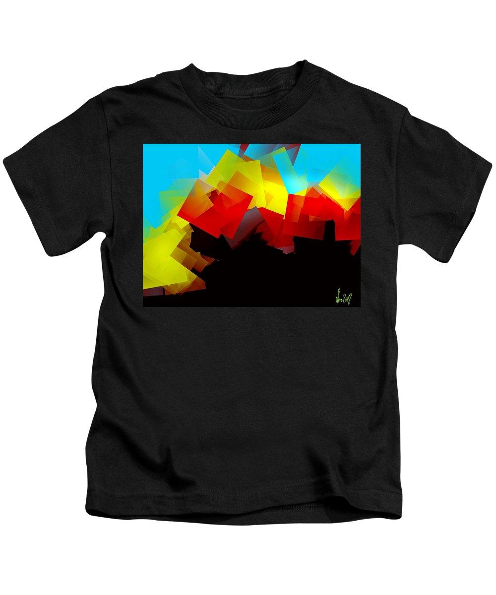 Sunrise Kids T-Shirt featuring the digital art Sunrise by Helmut Rottler