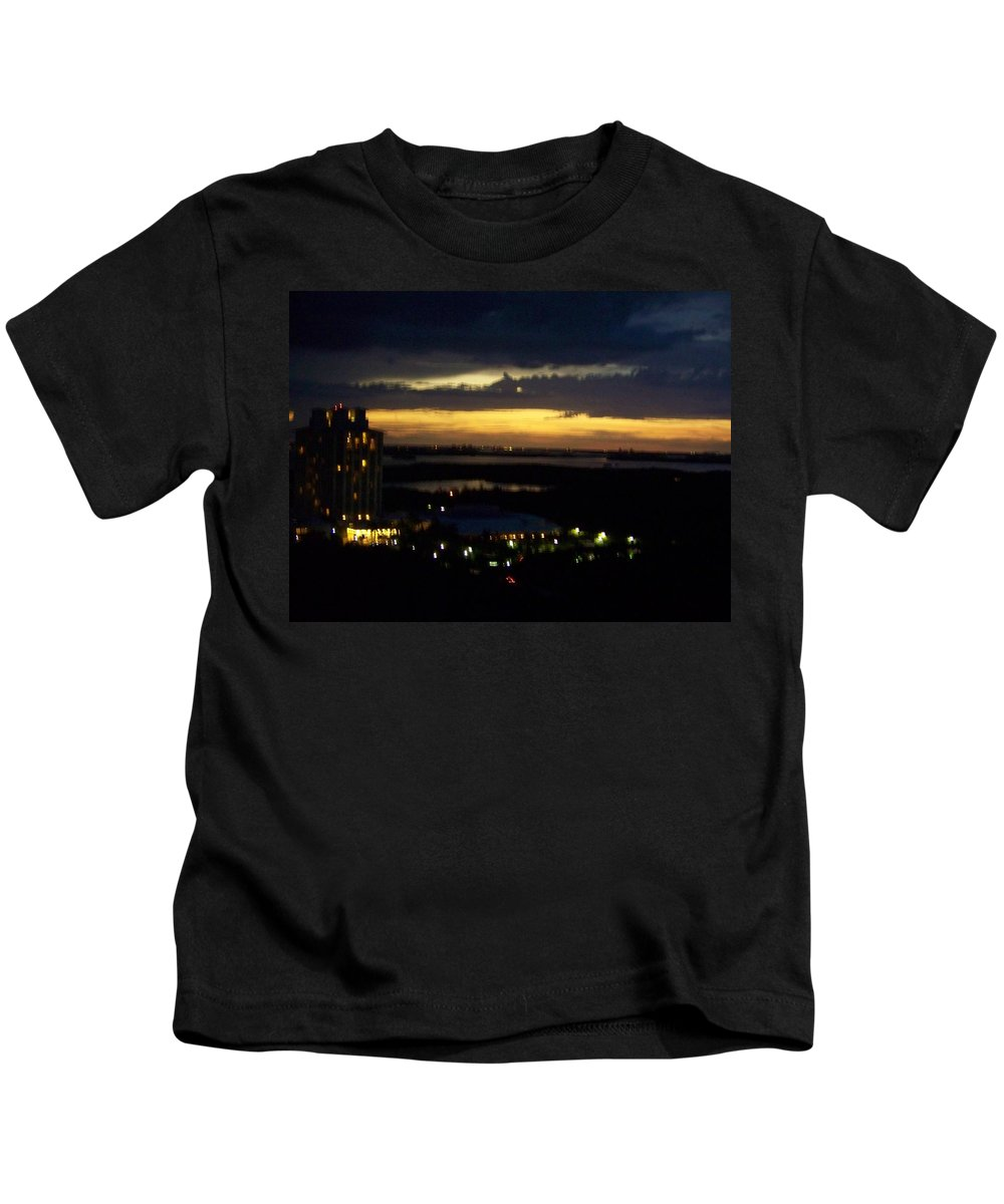 Sunset Kids T-Shirt featuring the photograph Sunset 0002 by Laurie Paci