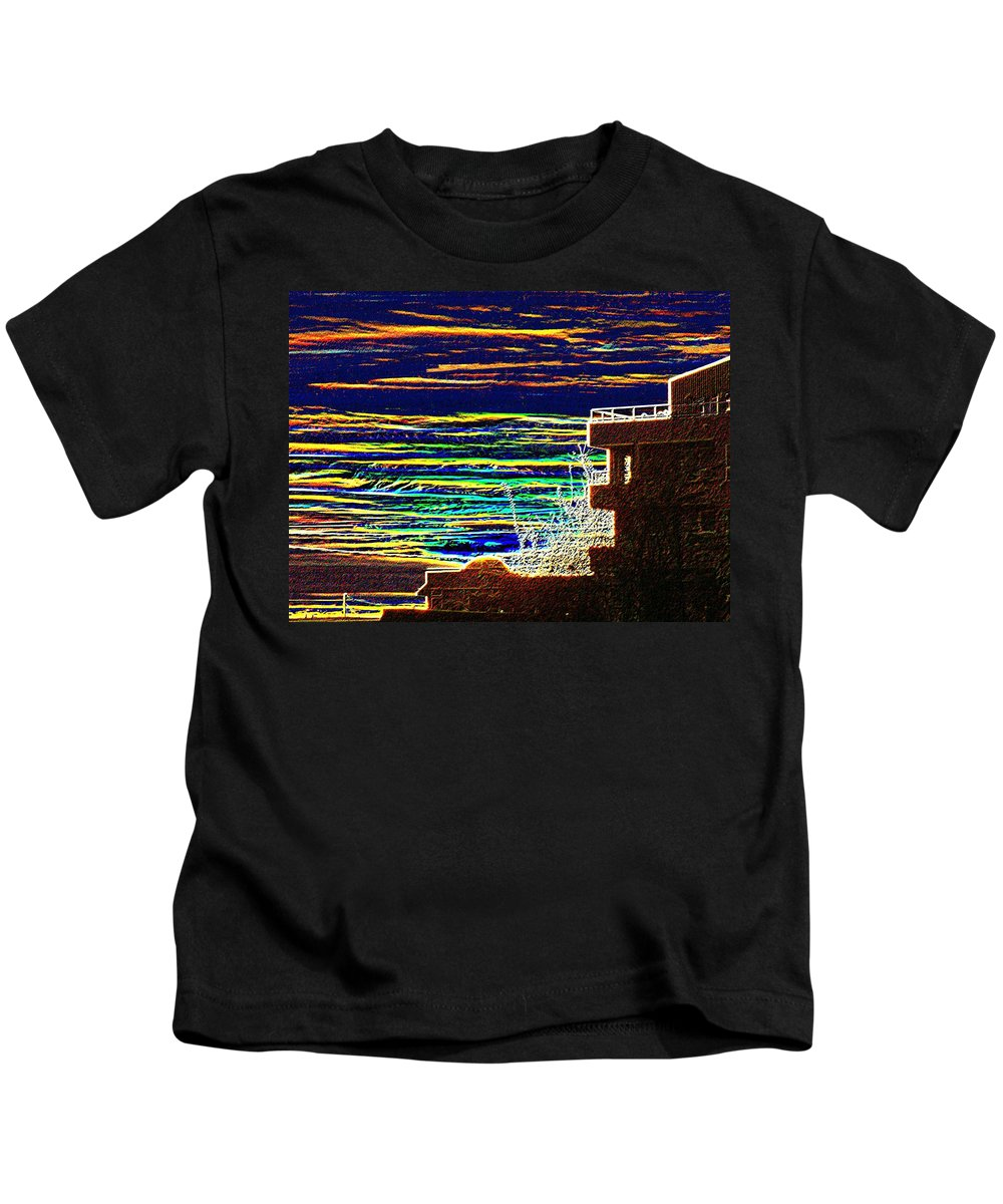 Seattle Kids T-Shirt featuring the digital art Sunset 1 by Tim Allen