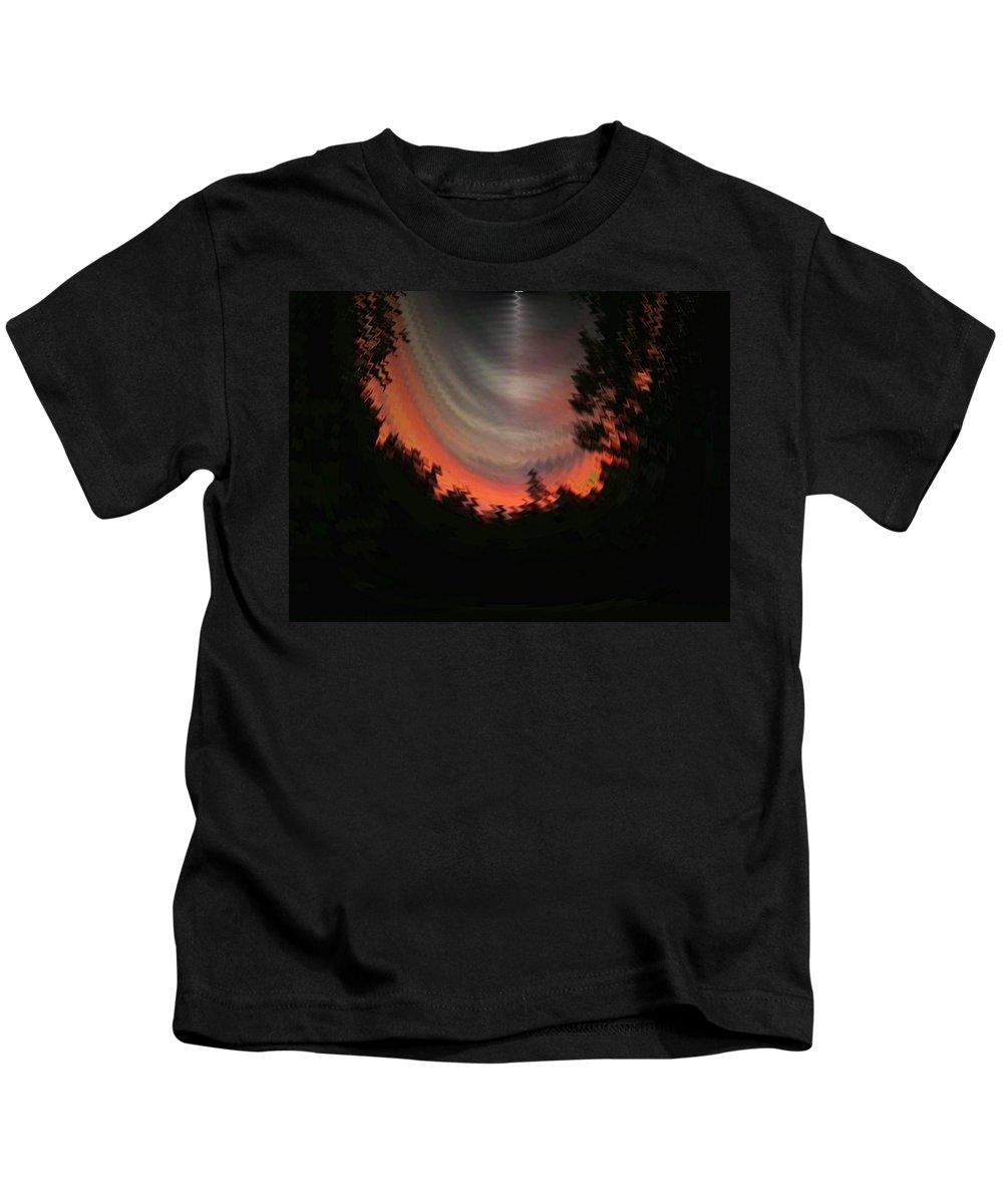 Sunset Kids T-Shirt featuring the digital art Sunset 3 by Tim Allen