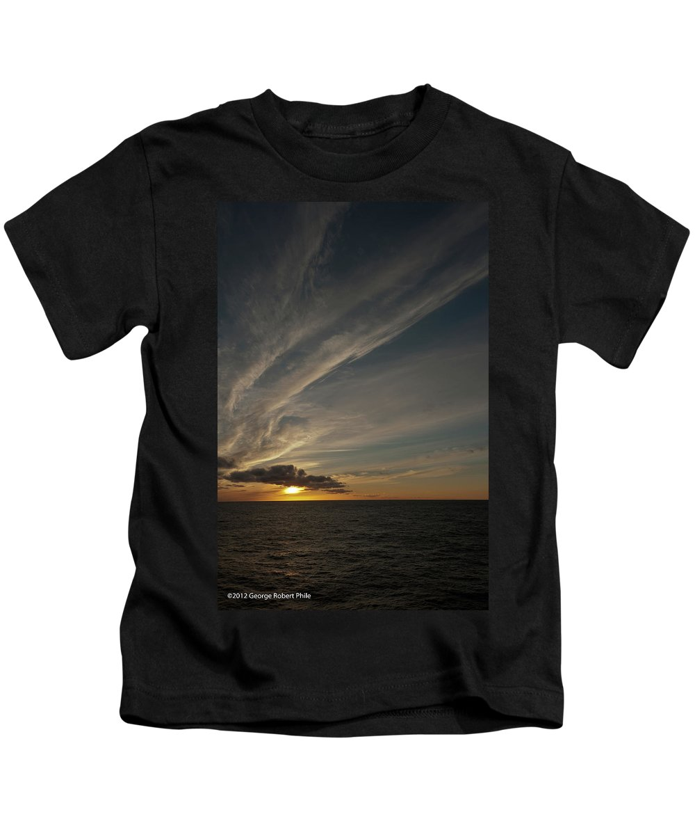 Cloud Kids T-Shirt featuring the photograph Sunset - 38 by George Phile