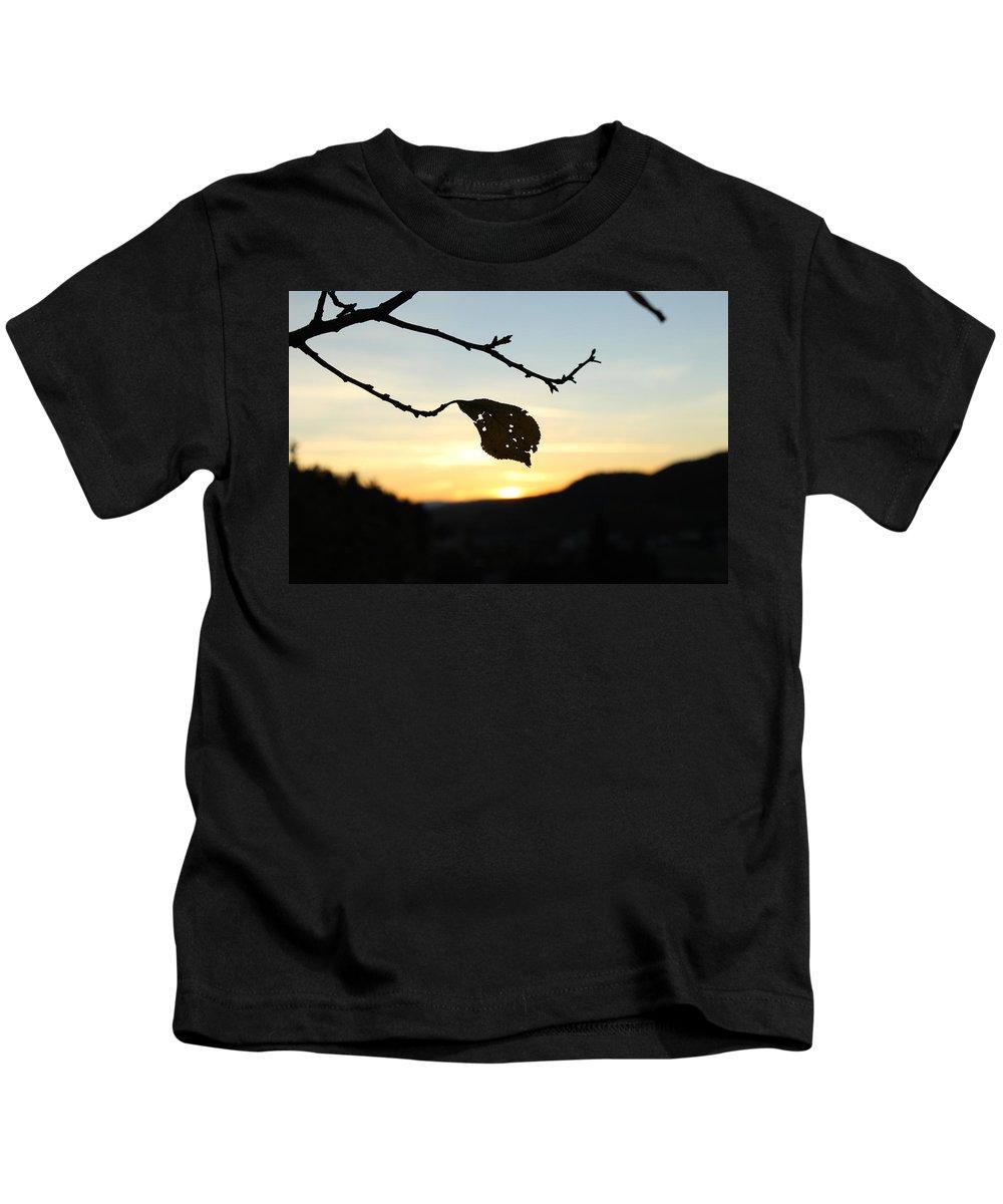 Sunset Kids T-Shirt featuring the photograph Sunset by Alena Madosova