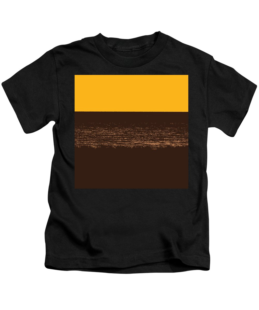 Golden Kids T-Shirt featuring the photograph Sunset And Lake Michigan by Michelle Calkins