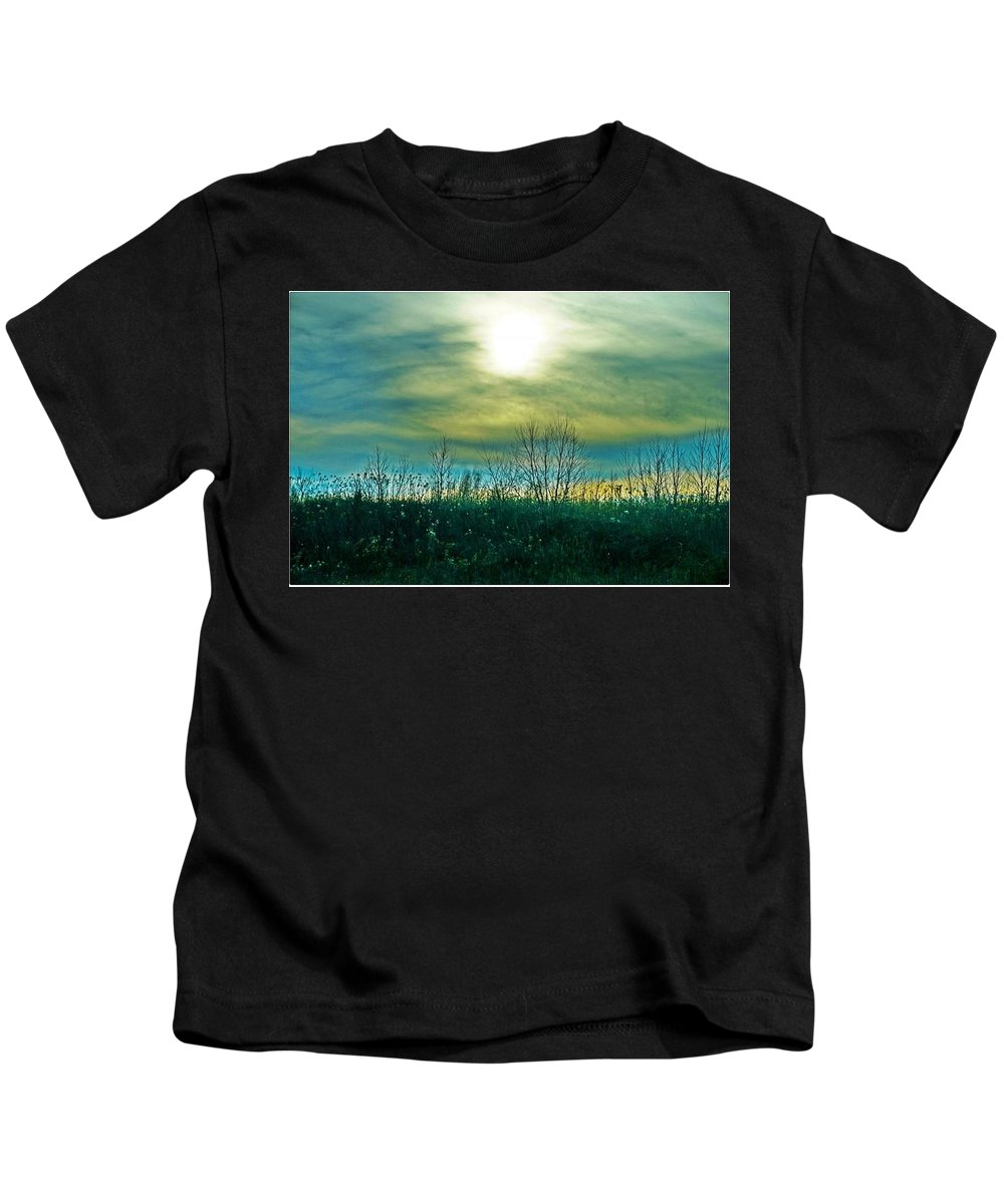 Sunset Kids T-Shirt featuring the photograph Sunset At Rapp Park by Val Black