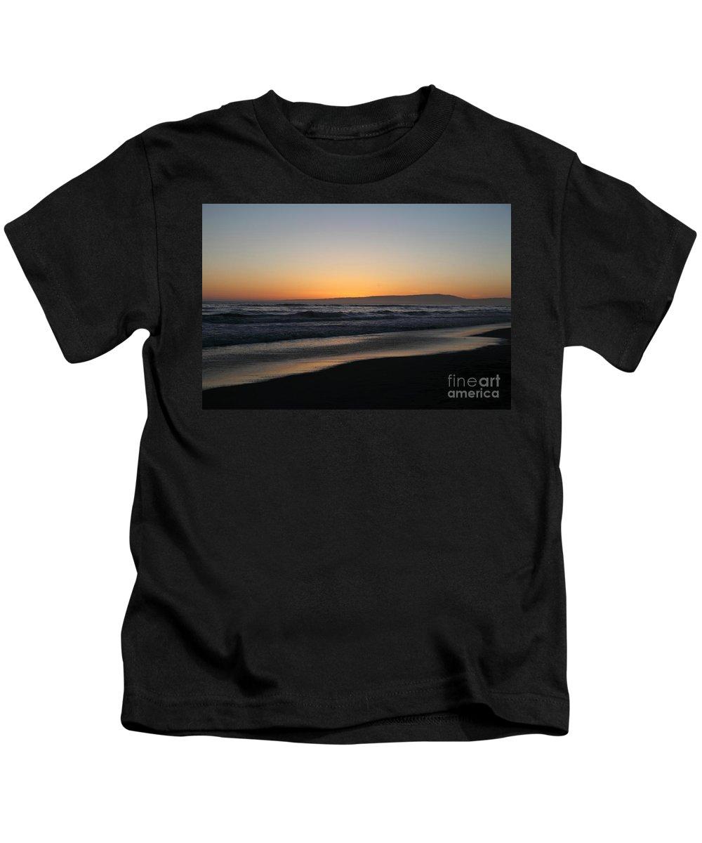 sunset Beach Kids T-Shirt featuring the photograph Sunset Beach California by Amanda Barcon