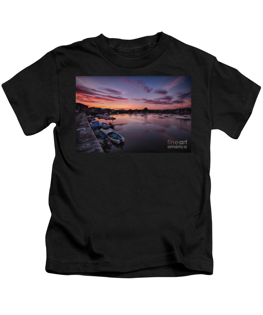 Water Kids T-Shirt featuring the photograph Sunset Clouds In The Sea by Marc Daly