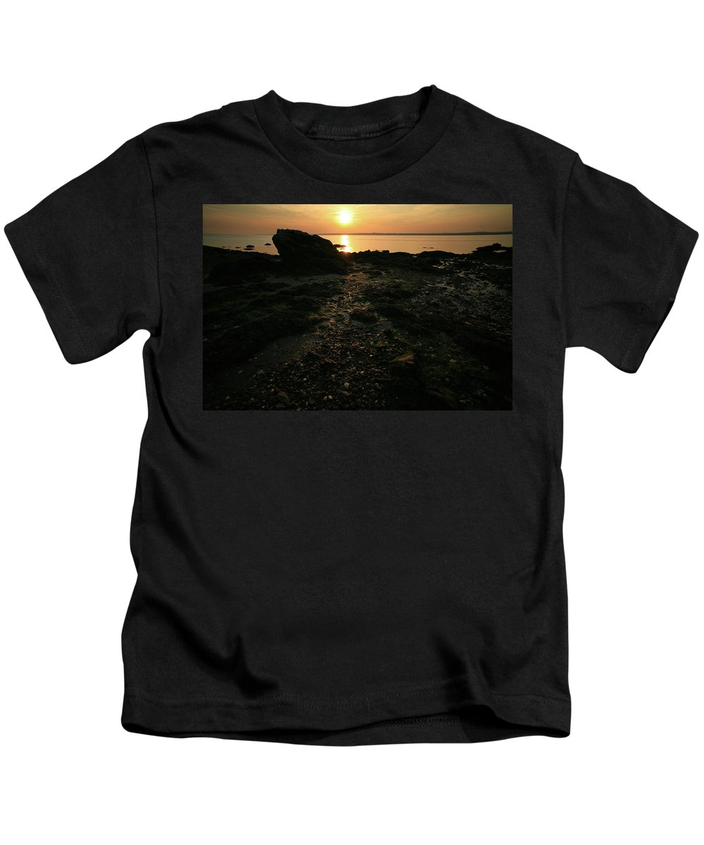 Sunset Kids T-Shirt featuring the photograph Sunset Coast by Karol Livote