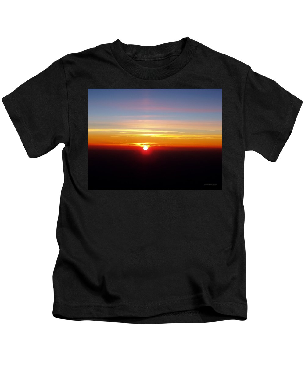 Pastel Kids T-Shirt featuring the photograph Sunset II by Deborah Crew-Johnson
