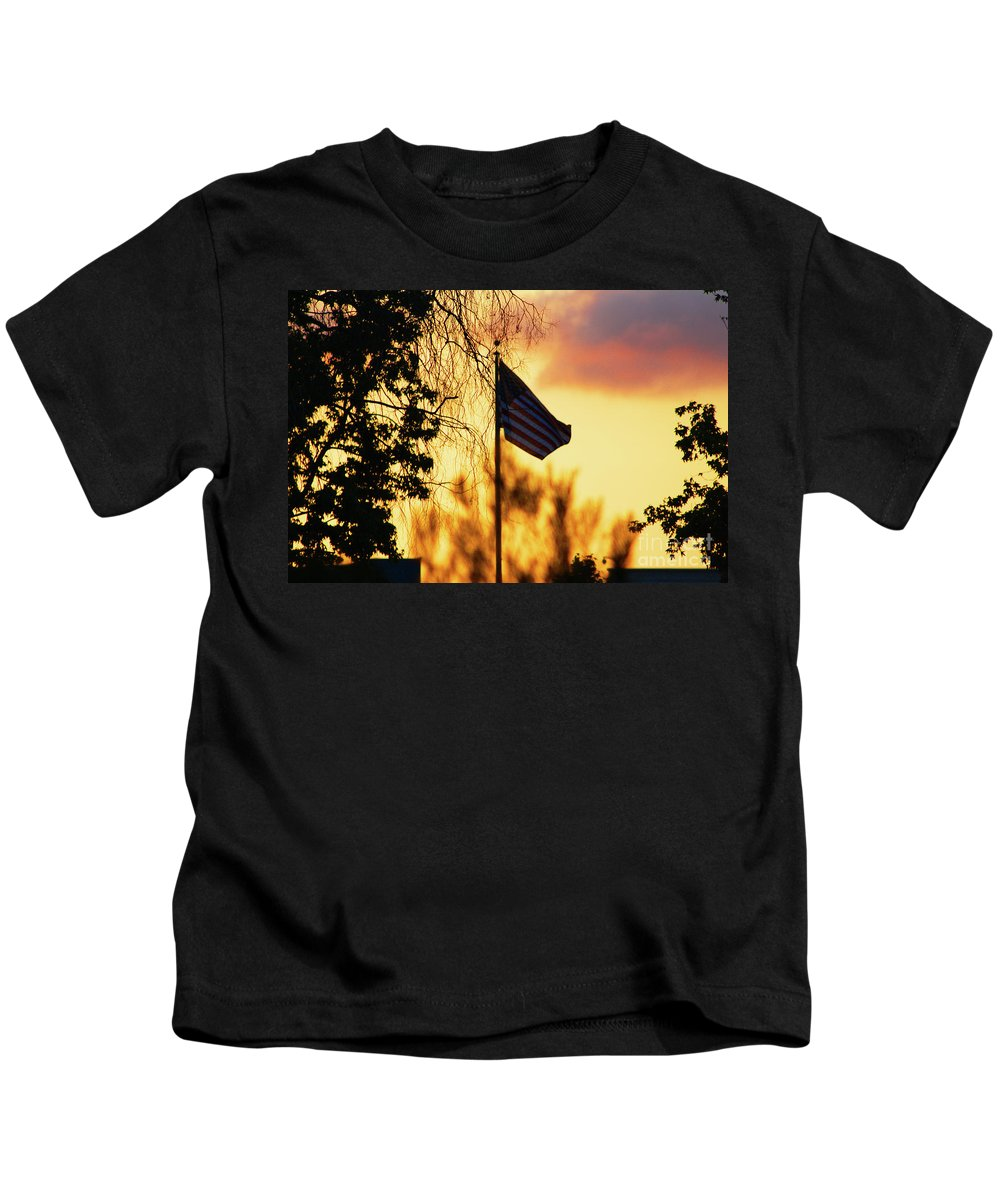 Flag Kids T-Shirt featuring the photograph Sunset In San Diego by Tommy Anderson
