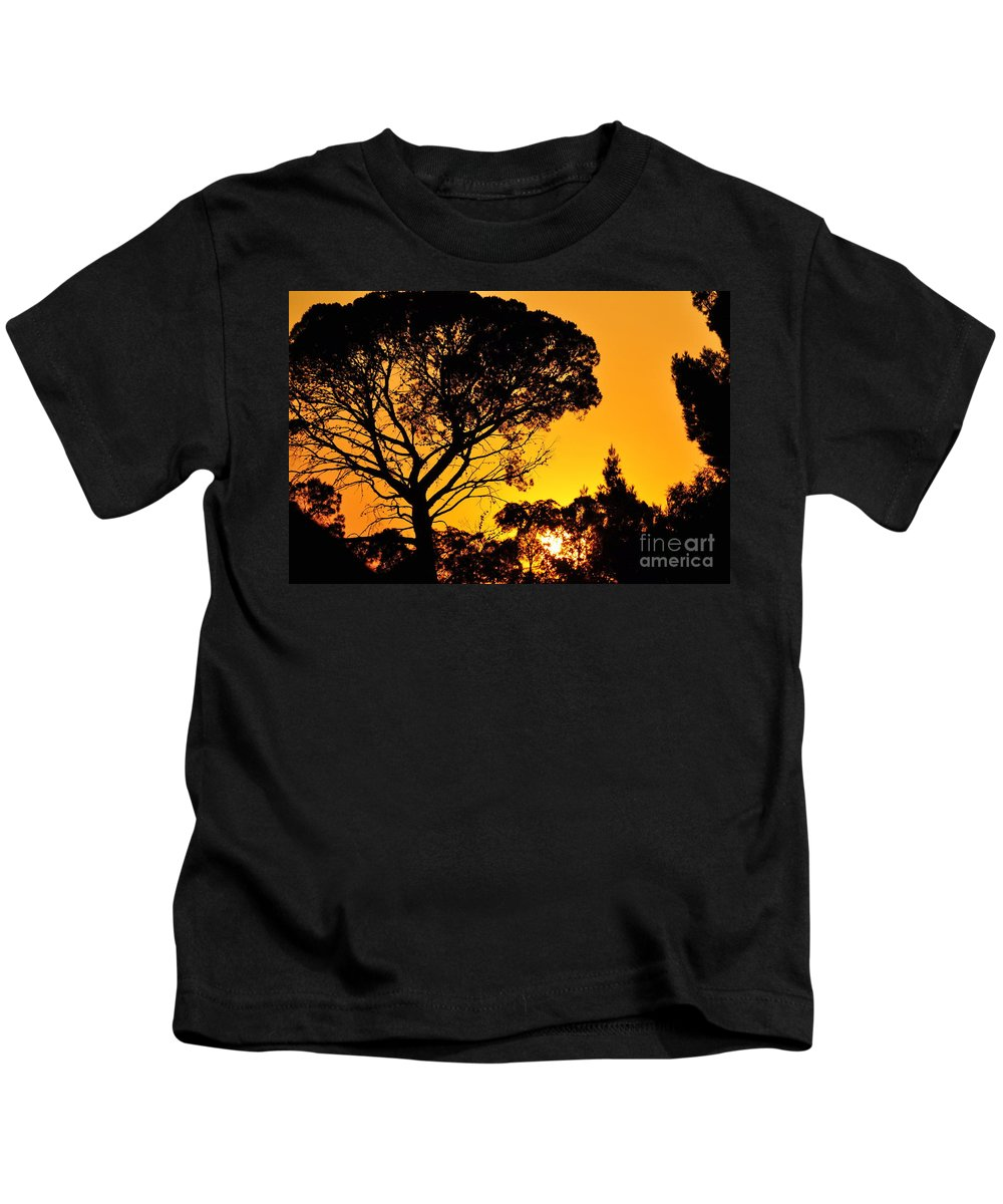 Clay Kids T-Shirt featuring the photograph Sunset In Tujunga by Clayton Bruster
