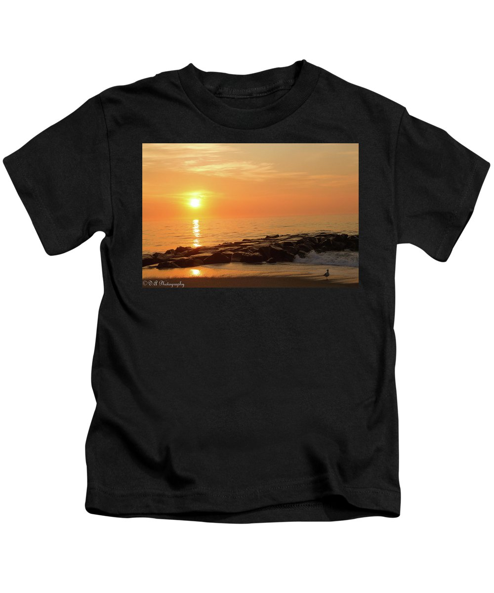 Charleston Kids T-Shirt featuring the photograph Sunset Shore by DA Photography