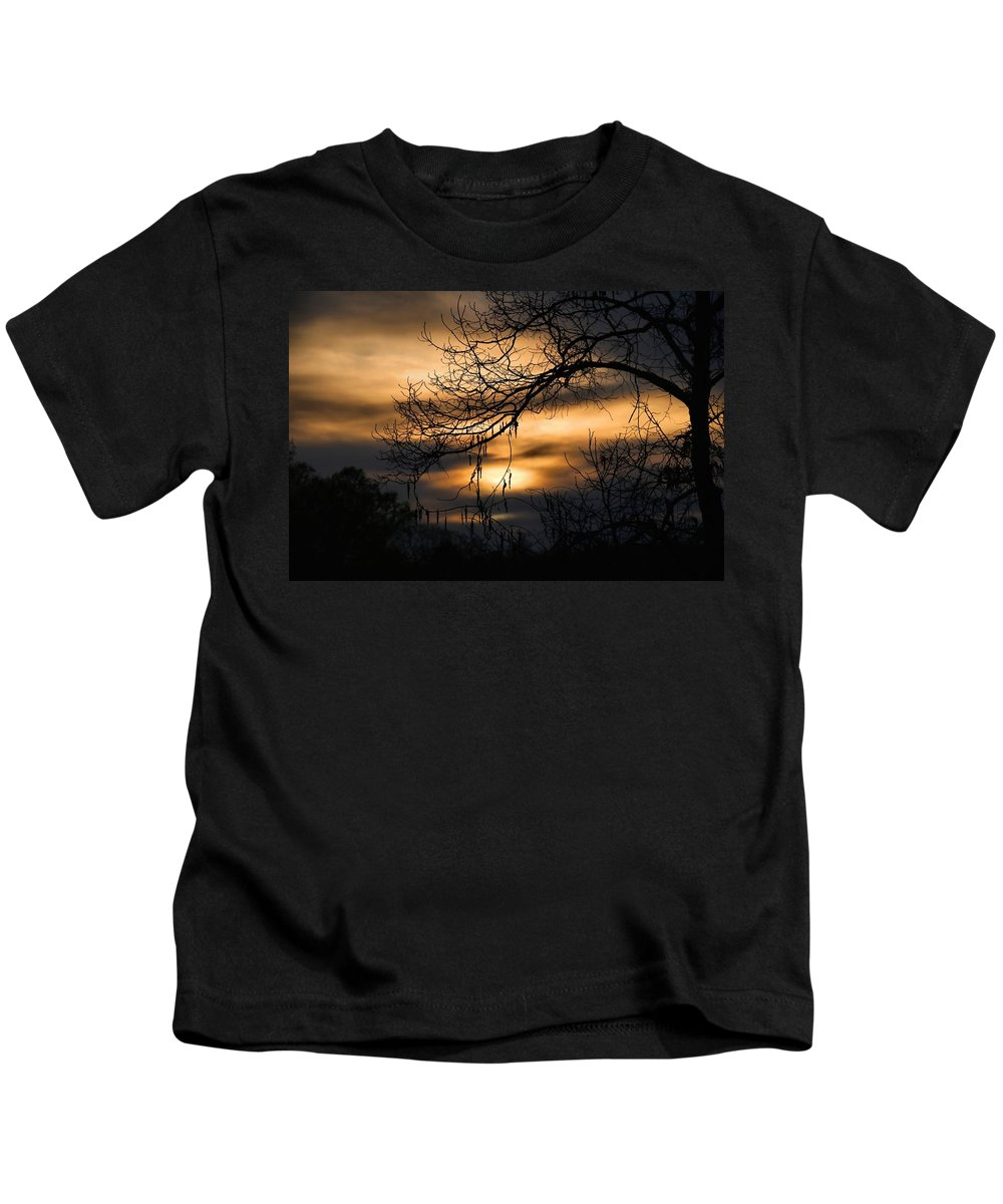 Sunset Kids T-Shirt featuring the photograph Sunset Silhouette by Kathryn Meyer
