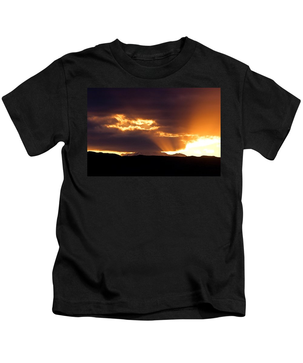 Sunset Kids T-Shirt featuring the photograph Sunset Sunbeams by James BO Insogna