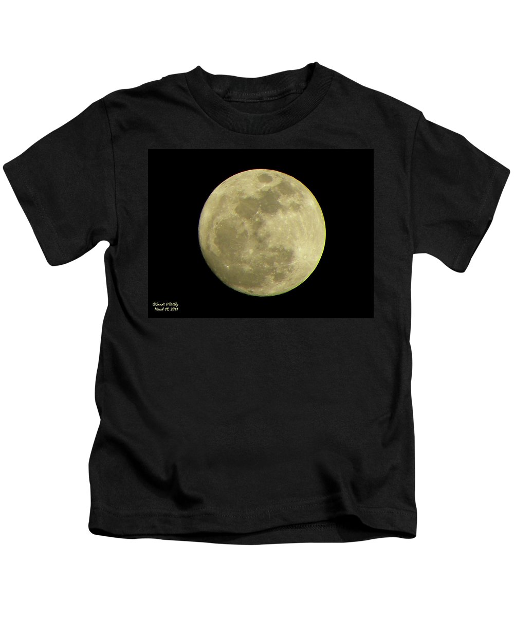 Super Moon Kids T-Shirt featuring the photograph Super Moon March 19 2011 by Sandi OReilly