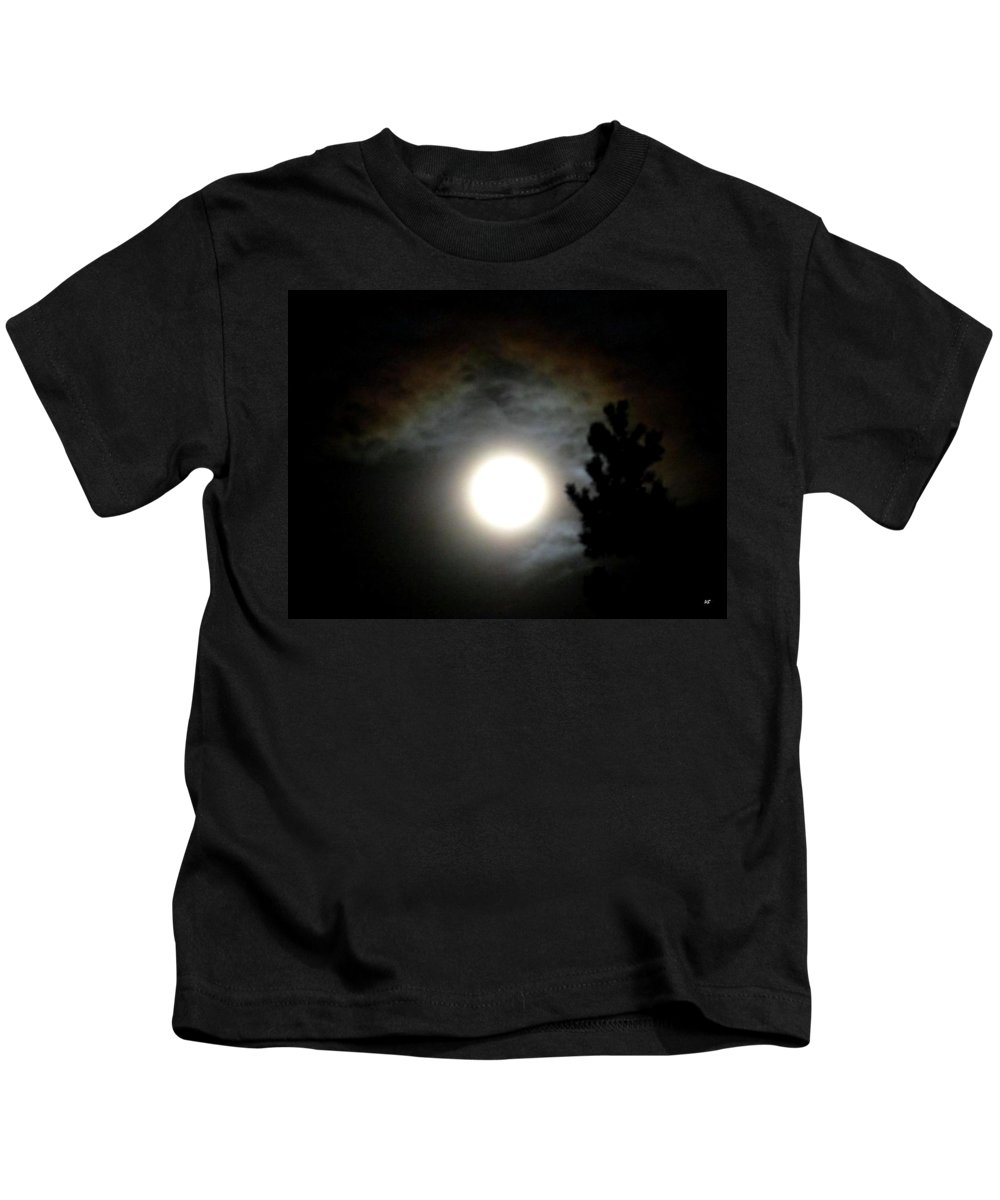 Super Moon Kids T-Shirt featuring the photograph Super Moon Over British Columbia by Will Borden