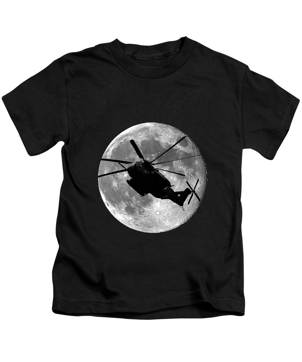 Super Stallion Kids T-Shirt featuring the photograph Super Stallion Silhouette .png by Al Powell Photography USA