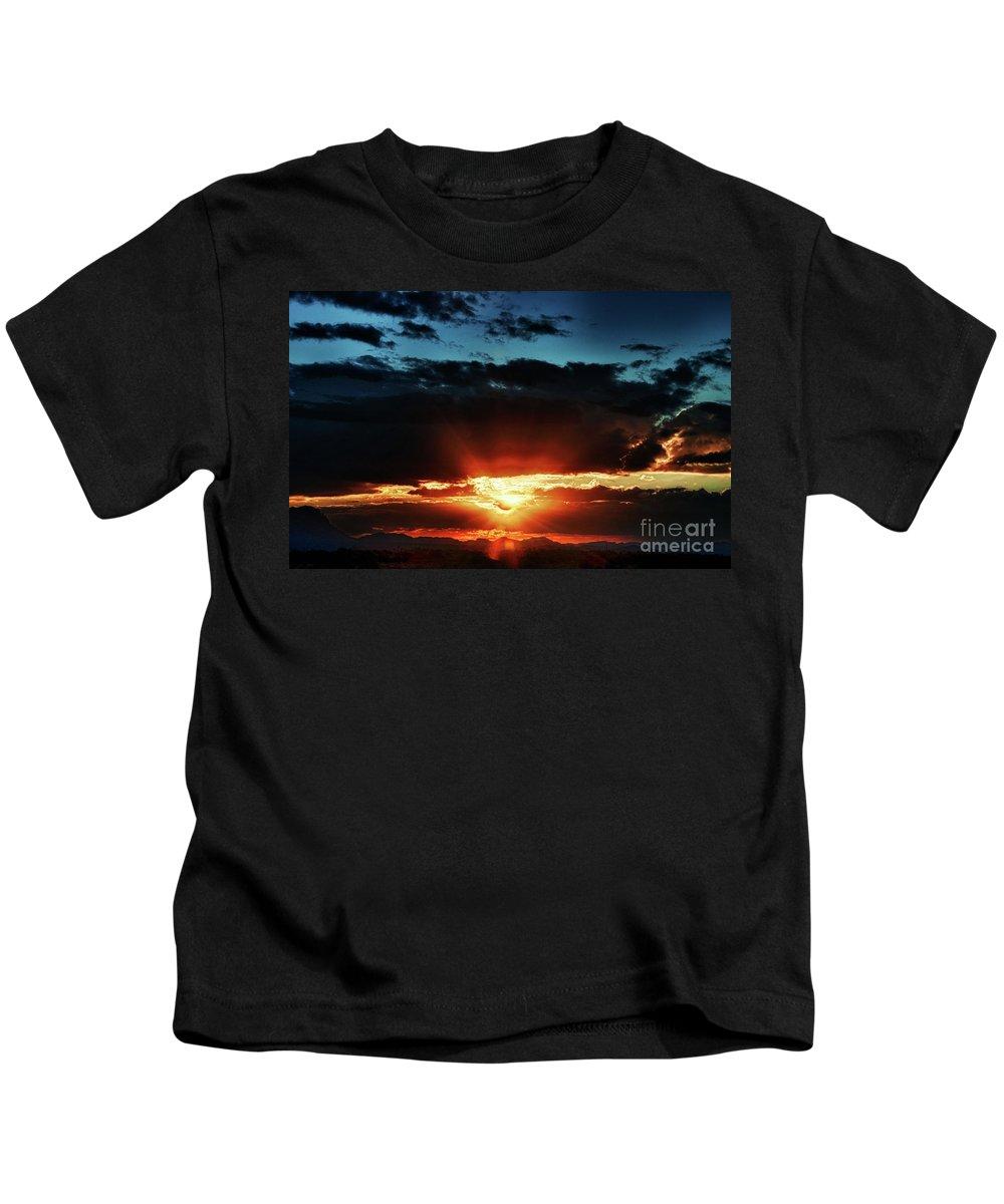 Arizona Kids T-Shirt featuring the photograph Superstition Sunrise by Saija Lehtonen