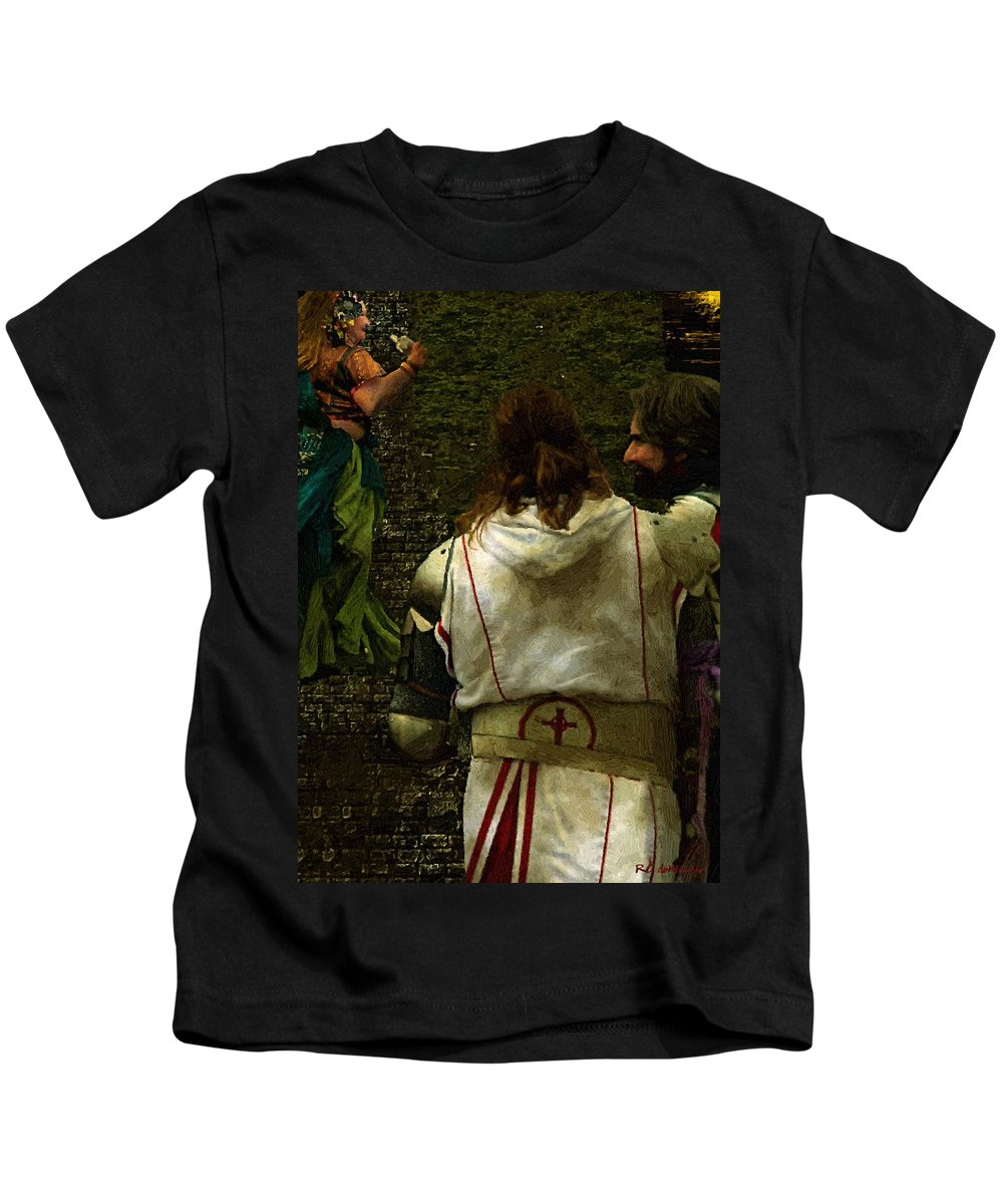 Building Kids T-Shirt featuring the painting Surely We Can Do Better Man by RC DeWinter