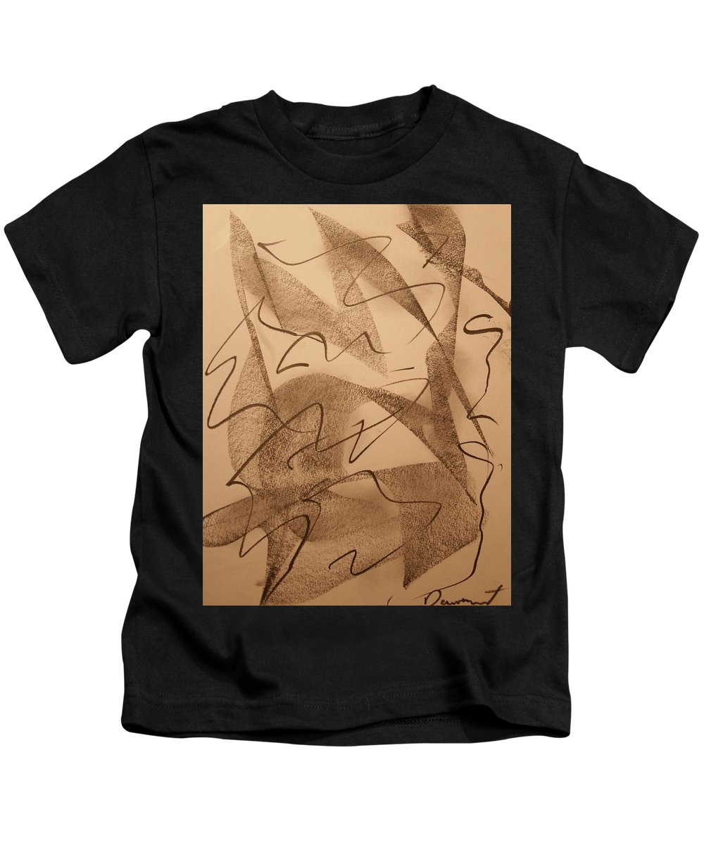 Abstract Kids T-Shirt featuring the drawing Surpassed Time by David Barnicoat